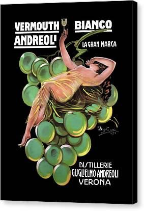 Distillerie Guglielmo Andreoli Verona  C. 1920 Canvas Print by Daniel Hagerman