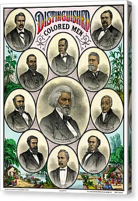 Distinguished African American Men Antique Print 1883 Canvas Print