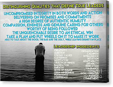 Distinguishing Qualities That Define True Leaders Canvas Print by Celestial Images