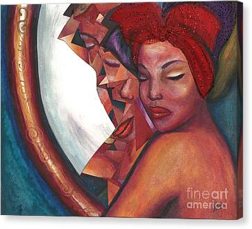 Canvas Print featuring the mixed media Distorted Image by Alga Washington