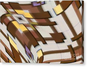 Canvas Print featuring the digital art Distortion by Wendy Wilton