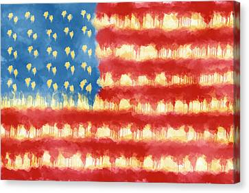 Distressed American Flag Canvas Print by Skip Nall