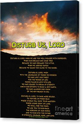 Disturb Us Lord Canvas Print by Celestial Images