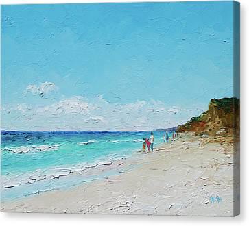 Ditch Plains Beach Montauk Hamptons Ny Canvas Print