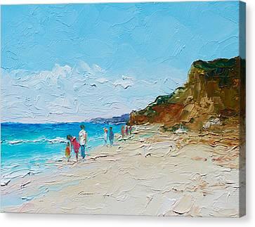 Ditch Plains Beach Montauk Hamptons  Canvas Print