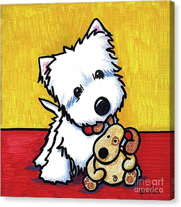 Canvas Print - Ditto And Pudge Painting by Kim Niles