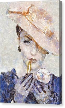 Diva Drama Canvas Print by Shirley Stalter