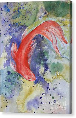 Diva Koi Canvas Print by Sibby S