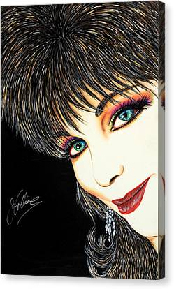 Diva Nasty Canvas Print