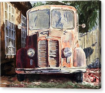 Divco Truck Canvas Print by Joey Agbayani