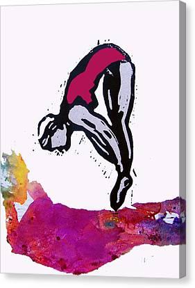 Dive - Crimson Tide Canvas Print by Adam Kissel