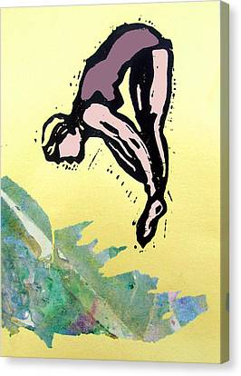Dive - Into Morning Waves Canvas Print by Adam Kissel