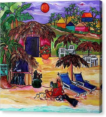 Sand Castles Canvas Print - Dive Shack by Patti Schermerhorn