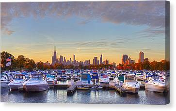 Diversey Harbor Canvas Print by Twenty Two North Photography