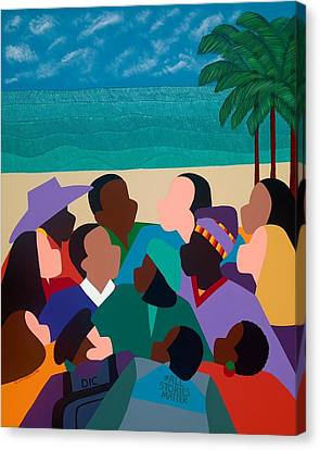 Canvas Print - Diversity In Cannes by Synthia SAINT JAMES