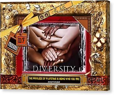 Diversity Canvas Print by Kathy Tarochione