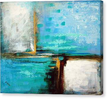 Canvas Print featuring the painting Divided Loyalties by Suzanne McKee