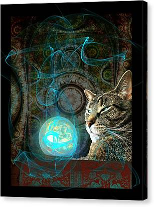 Canvas Print featuring the digital art Divination by Anastasiya Malakhova
