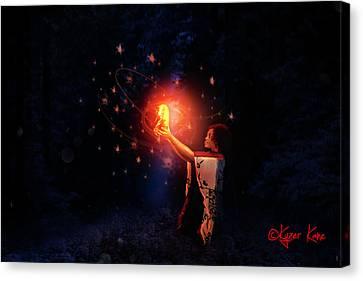 Divination Canvas Print by Kyzer Kane