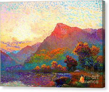 Impressionist Landscape Canvas Print -  Buddha Meditation, Divine Light by Jane Small