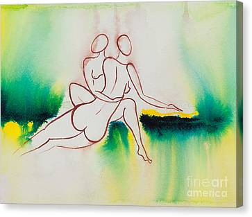 Divine Love Series No. 2090 Canvas Print by Ilisa Millermoon