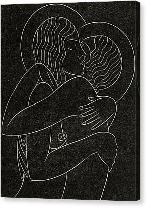 Divine Lovers Canvas Print by Eric Gill