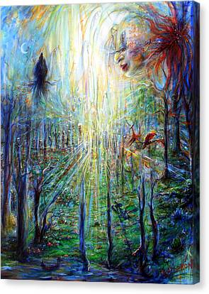 Canvas Print featuring the painting Divine Mother Earth by Heather Calderon