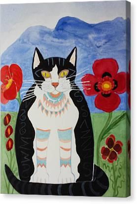 Diwali Tux Cat Canvas Print