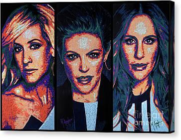 Dixie Chicks Canvas Print by Maria Arango