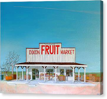 Dixon Fruit Market 1992 Canvas Print by Wingsdomain Art and Photography