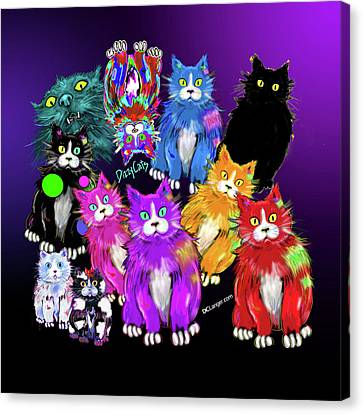 Dizzycats Canvas Print by DC Langer