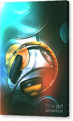 Dj Club Sound Canvas Print