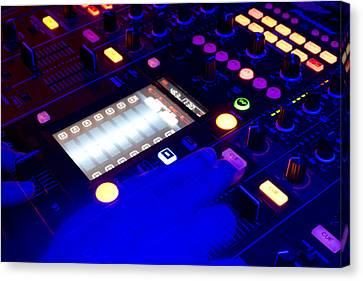 Dj On Deck Canvas Print by Michael Wilcox