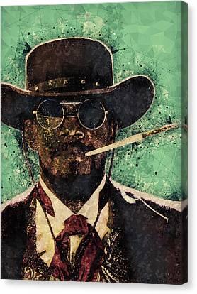 Modern Digital Art Digital Art Canvas Print - Django Unchained  by Studio Grafiikka