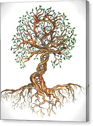 Dna Tree Of Life Canvas Print