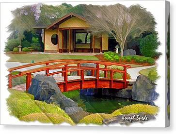 Do-00006 Cypress Bridge And Tea House Canvas Print