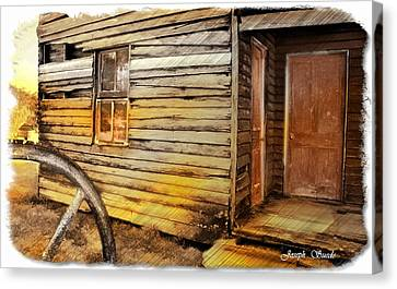 Canvas Print featuring the photograph Do-00040 Old House Front by Digital Oil