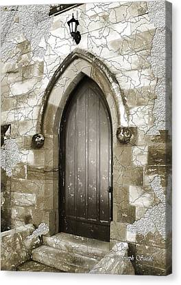 Canvas Print featuring the photograph Do-00055 Chapels Door In Morpeth Village by Digital Oil