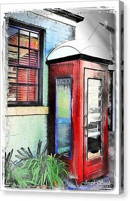 Do-00091 Telephone Booth In Morpeth Canvas Print