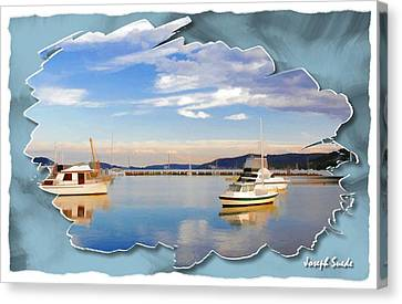 Canvas Print featuring the photograph Do-00115 Boats In Gosford by Digital Oil