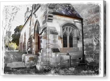 Canvas Print featuring the photograph Do-00116 Church In Morpeth by Digital Oil