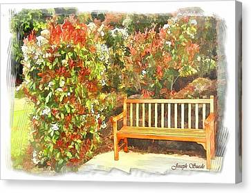Canvas Print featuring the photograph Do-00122 Inviting Bench by Digital Oil