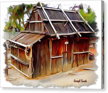 Canvas Print featuring the photograph Do-00129 Old Cottage by Digital Oil