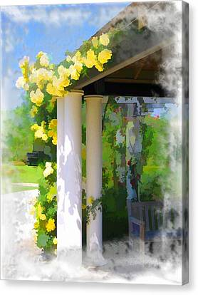 Canvas Print featuring the photograph Do-00137 Yellow Roses by Digital Oil