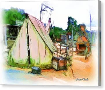 Canvas Print featuring the photograph Do-00139 Tent by Digital Oil
