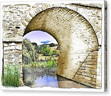 Canvas Print featuring the photograph Do-00262 Richmond Bridge by Digital Oil