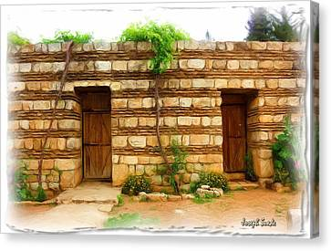 Canvas Print featuring the photograph Do-00305 Old Hutt In Anjar by Digital Oil