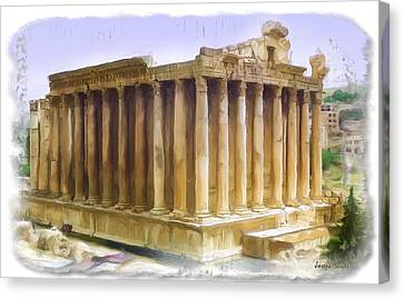 Do-00312 Temple Of Bacchus In Baalbeck Canvas Print