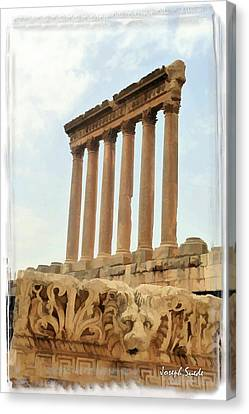 Do-00314 The 6 Corinthian Columns In Baalbeck Canvas Print