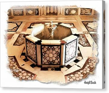 Canvas Print featuring the photograph Do-00323 Old Bath Fountain by Digital Oil